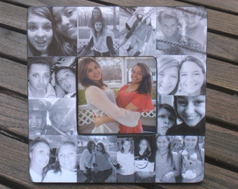 Best Friends Photo Collage Frame, Unique Graduation Gift, Personalized Sister Gift, Custom Maid of Honor, Bridesmaid, Birthday Frame Gift