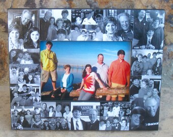 """Family Collage Picture Frame, Personalized Birthday Frame, Unique Photo Collage Gift, Mother's Day Gift, Father's Day Gift, 5"""" x 7"""""""