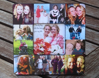 """Maid of Honor Collage Picture Frame, Personalized Sister Gift, Custom Bridesmaid Frame, Bridal Shower Gift Frame, Best Friend Gift, 8"""" x 8"""""""