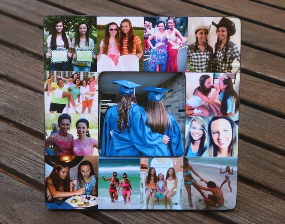 Unique Graduation Gift Best Friend Collage Frame Etsy