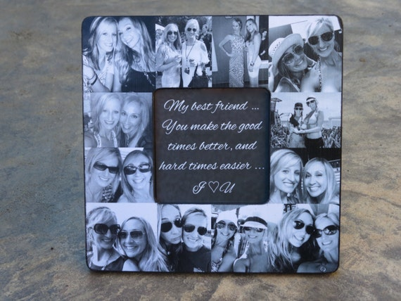 Best Friends Photo Collage Frame Personalized Sister Gift Etsy
