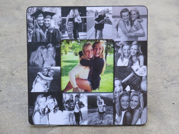 Best Friend Collage Picture Frame Unique Graduation Gift Etsy