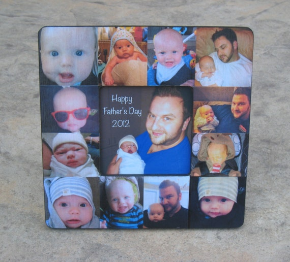 personalized father s day picture frame unique baby s etsy