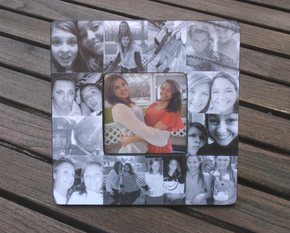 Best Friends Photo Collage Frame Unique Graduation Gift Etsy