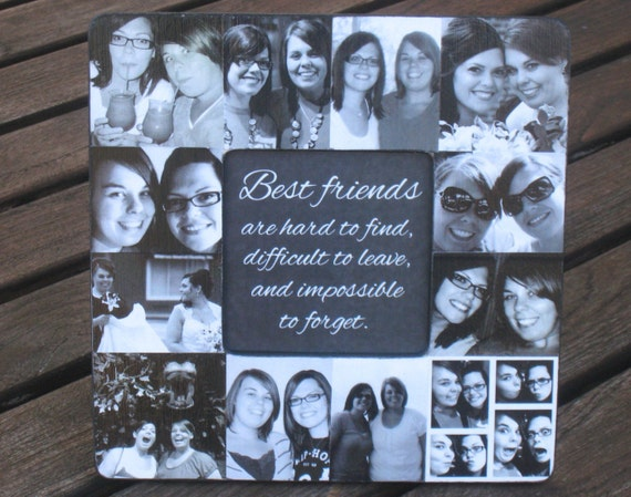 Best Friends Collage Picture Frame Personalized Maid Of Etsy