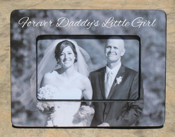 Father Of The Bride Picture Frame Custom Wedding Picture Etsy