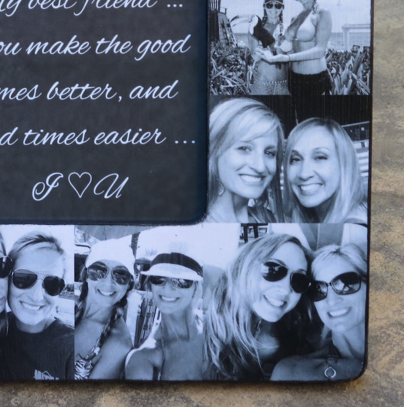 8 x 8 Maid of Honor Picture Frame Best Friends Photo Collage Frame Graduation Gift Custom Bridesmaid Frame Personalized Sister Gift