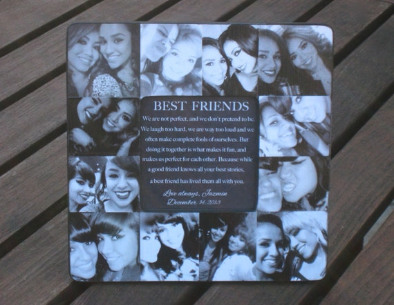 Best Friends Collage Frame Personalized Sister Gift Unique Etsy