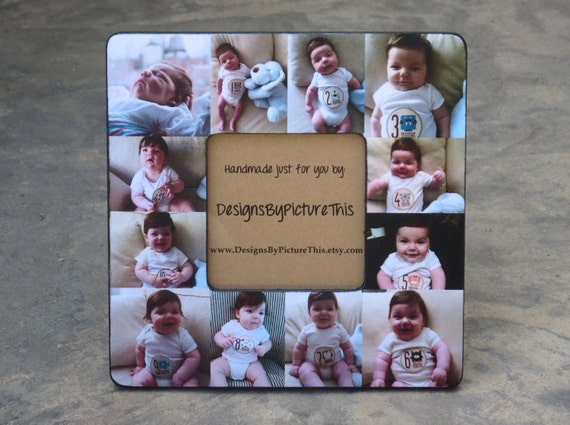 Babys First Year Collage Frame Personalized Baby Picture Etsy