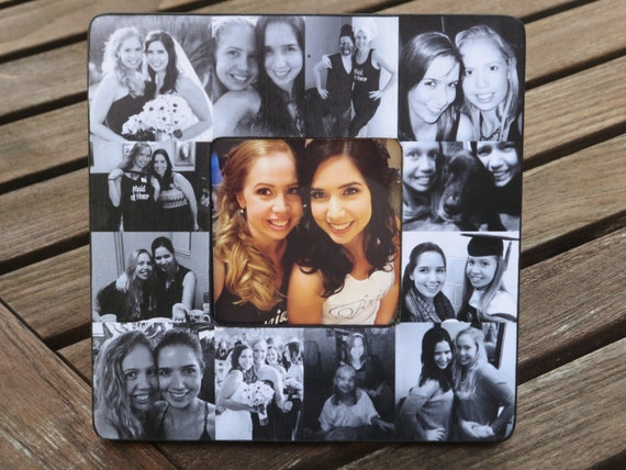 Best Friends Photo Collage Frame Personalized Sister Etsy