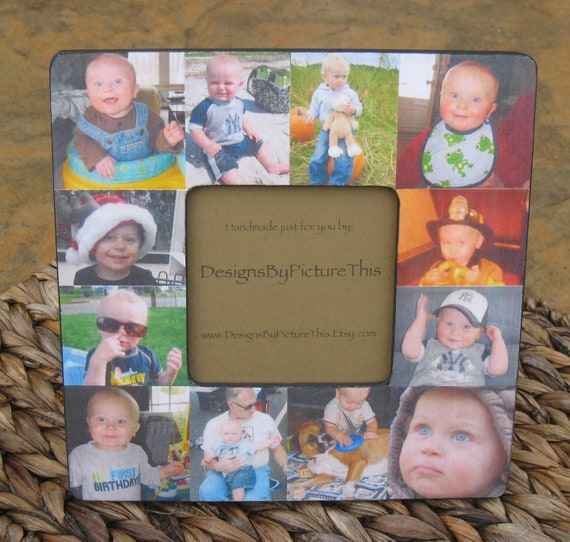 baby collage picture frame personalized mother s day etsy