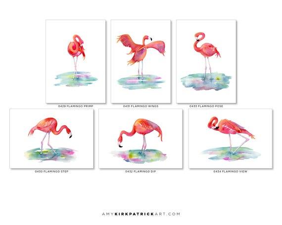 2 flamingo/'s flamingo in love blank card 5x7 inches birthday