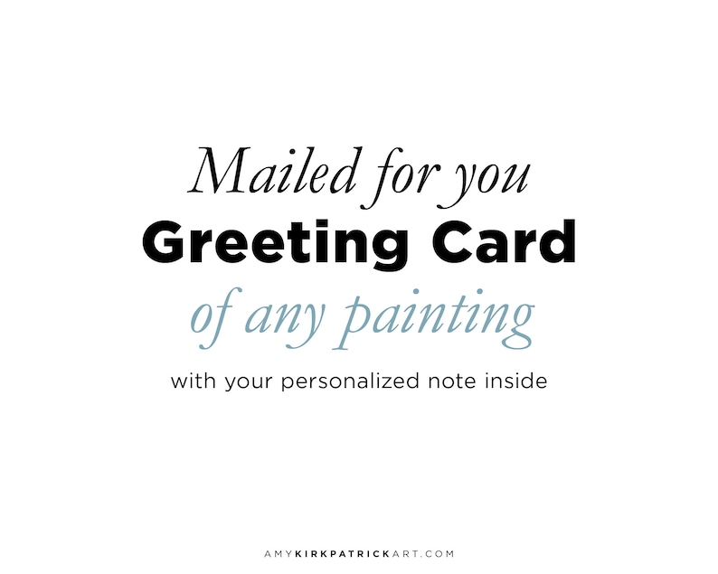 Mailed for you greeting card with personalized note inside image 0