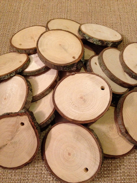 Tree Slices Predrilled 25 3 Rustic Wood Tree Slices For Weddings Tags Favors Decor Crafts More