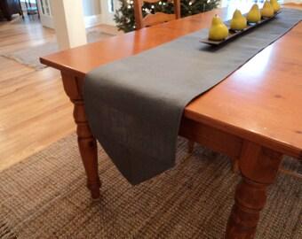 Grey Table Runner Etsy - Custom table pads 69 usd