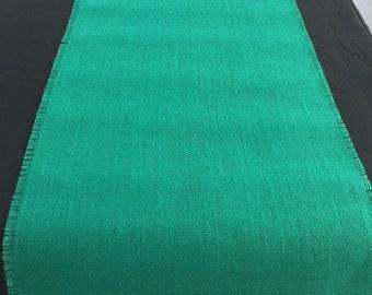 Emerald Green Burlap Table Runner Or Choose Another Color Emerald Green Home Decor Emerald Wedding Decorations