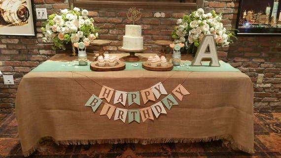 Mint Green Burlap Table Runner Beachy Wedding Decor 14 Etsy