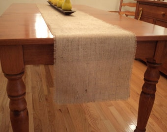 Burlap Table Runner Choose Your Size or Custom Size Available Shower Decorations Rustic Wedding Decor Burlap Wedding Rustic Chic Home Decor