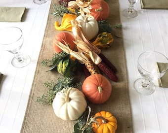 """Burlap Table Runner 12"""" or 14"""" Wide Table Runner Burlap Table Covering Rustic Wedding Table Runners for Round Table Custom Size Table Runner"""