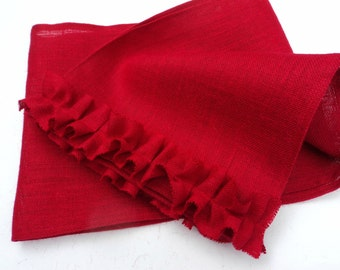 Valentines Day Table Runner Burlap Table Runner Holiday Table Settings Red  Burlap Table Runner Custom Size