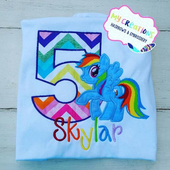 My Little Pony Rainbow Dash Birthday Shirt