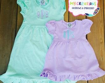 Little Girl Monogrammed Dresses