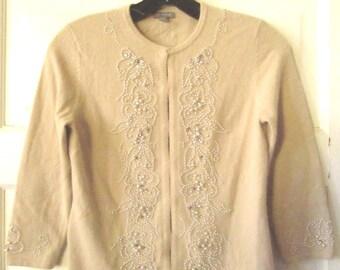 Ann Taylor Beaded Angora Sweater XS - XXS, New Old Stock