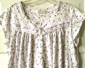 Eileen West Cotton Knit Nightgown S - M db17fa0d8