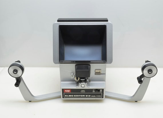 Elmo Dual 8mm 912 Movie Film Editor for Regular 8mm and Super 8mm Films,  Top of Line Editor, Made Japan, In Original Box, Near Mint