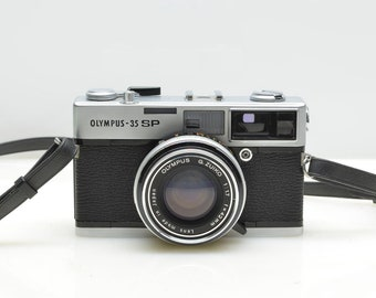 OLYMPUS 35 SP 35mm Rangefinder Camera, Ultra Compact, SUPERB Optics, New Battery, Rated Best Compact Rangefinder Ever, With Original Case