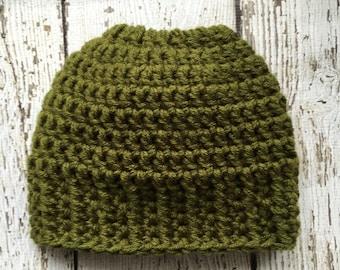 4c7b5896af8 Brown ponytail hat | Etsy