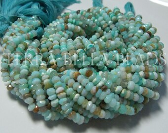 Peru Opal Beads Peru sky Blue Opal Tyre Beads Blue Opal smooth Spacer Beads 15 Blue Opal Beads for FindingsBeads