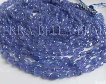 3.5-6 mm Blue Tanzanite gemstone rondelle plain beads 17 inch Strand BH#70C 100/% Natural Tanzanite rondelle beads Tanzanite Beads
