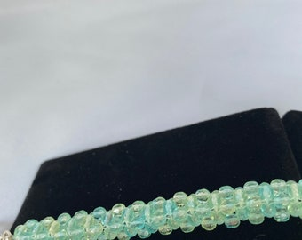 Ice Blue/Green Cubic Weave