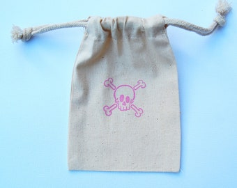 Pink Princess Pirate Party Favor Bags / Set of 12/ Birthday Party Favor Bags