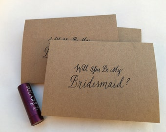 Will you be my bridesmaid / Note Card / Set of 8
