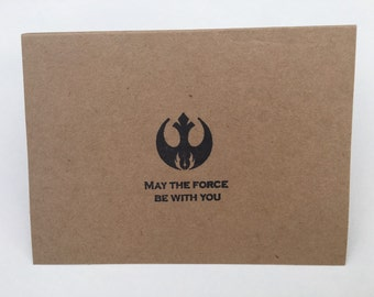 Star Wars note cards / Greeting Card / set of 10 / May the force be with you