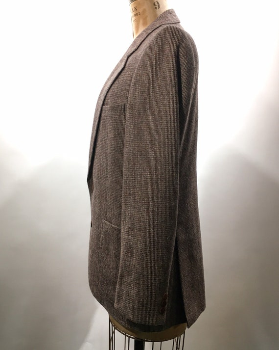 1970s Yves Saint Laurent Tweed Blazer M - image 4