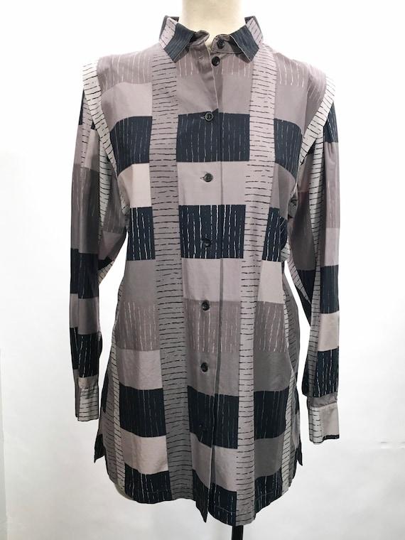 1980s Marimekko Graphic Print Blouse