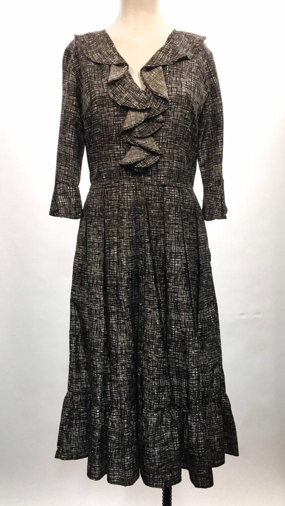 1980/90s Samantha Sung Hand Drawn Silk Dress