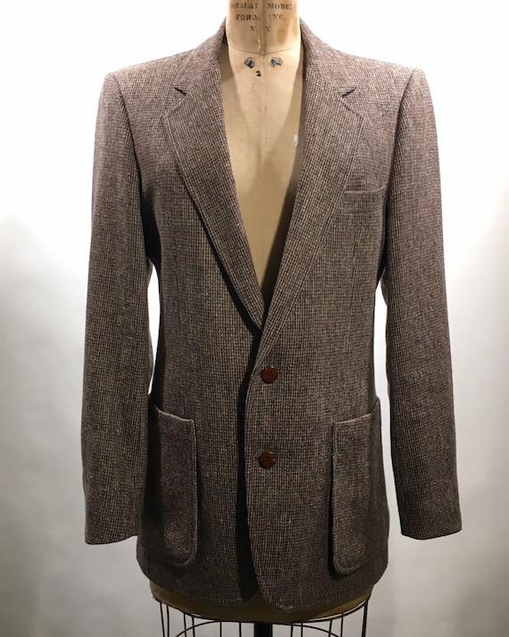 1970s Yves Saint Laurent Tweed Blazer M - image 1