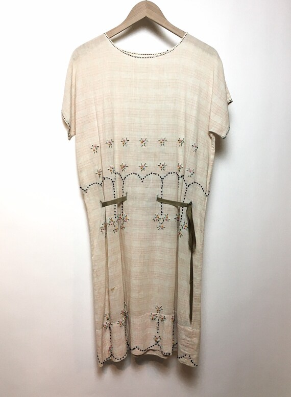 1930s Embroidered Cotton Dress