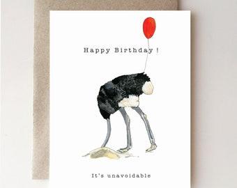 Ostrich Girl Power Friendship Greeting Card