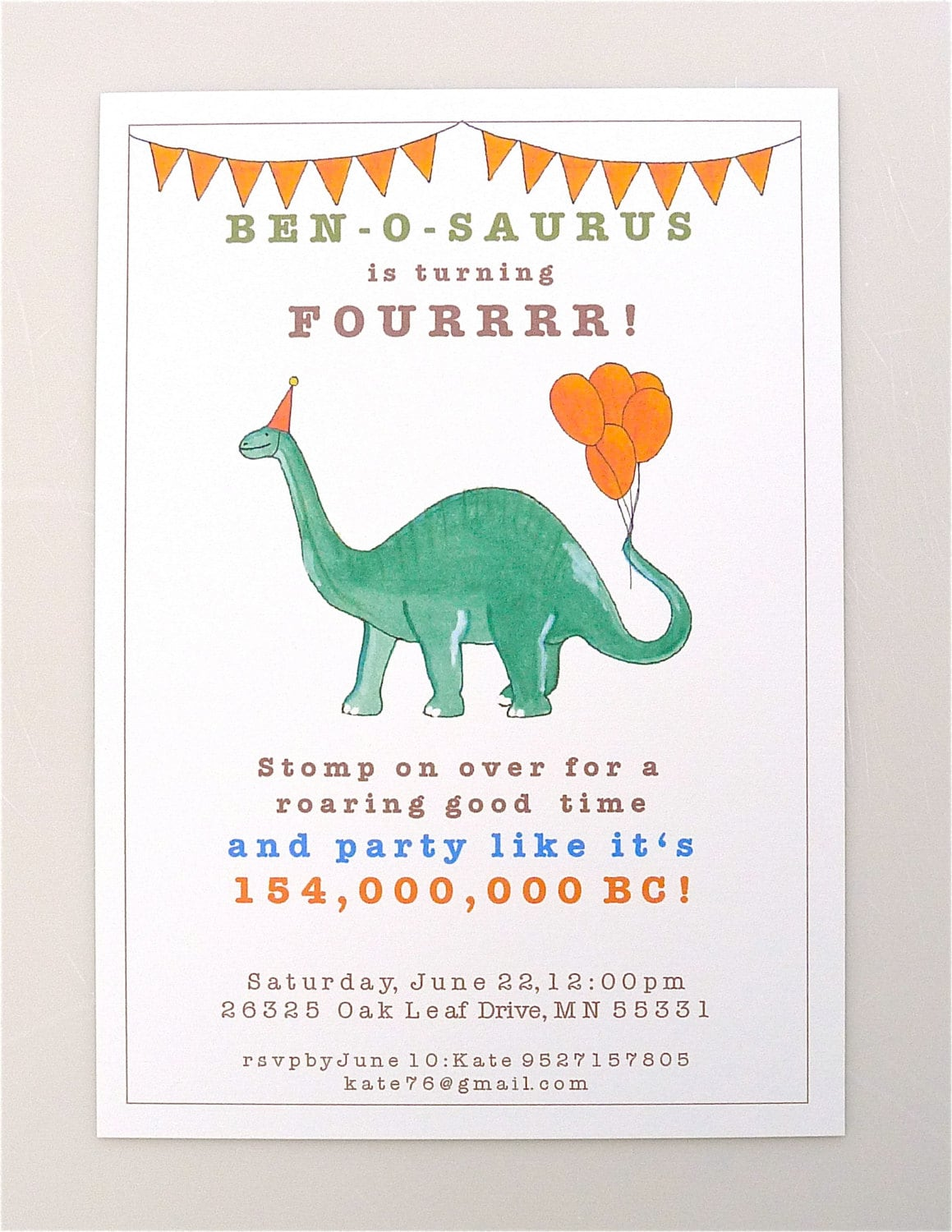 It is a photo of Mesmerizing Printable Dinosaur Birthday Invitations