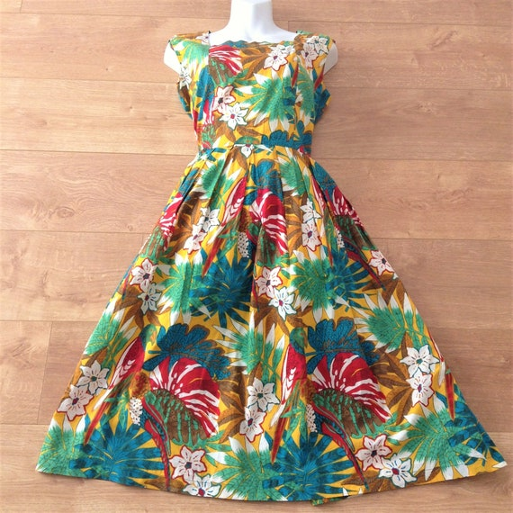 French Women Vintage Summer Long Pleated Dress - E