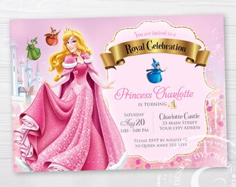 Princess Aurora Birthday Invitation