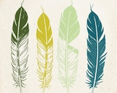 Native Feathers Art Print 8x10 inch American Tribal, SALE buy 2 get 3