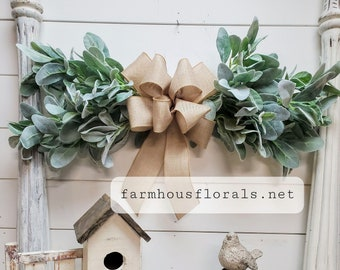 Farm House Rustic Natural Vintage Cotton /& pod GARLAND 6/' Harvest everyday DIY wreanth floral 72H Christmas for Fall