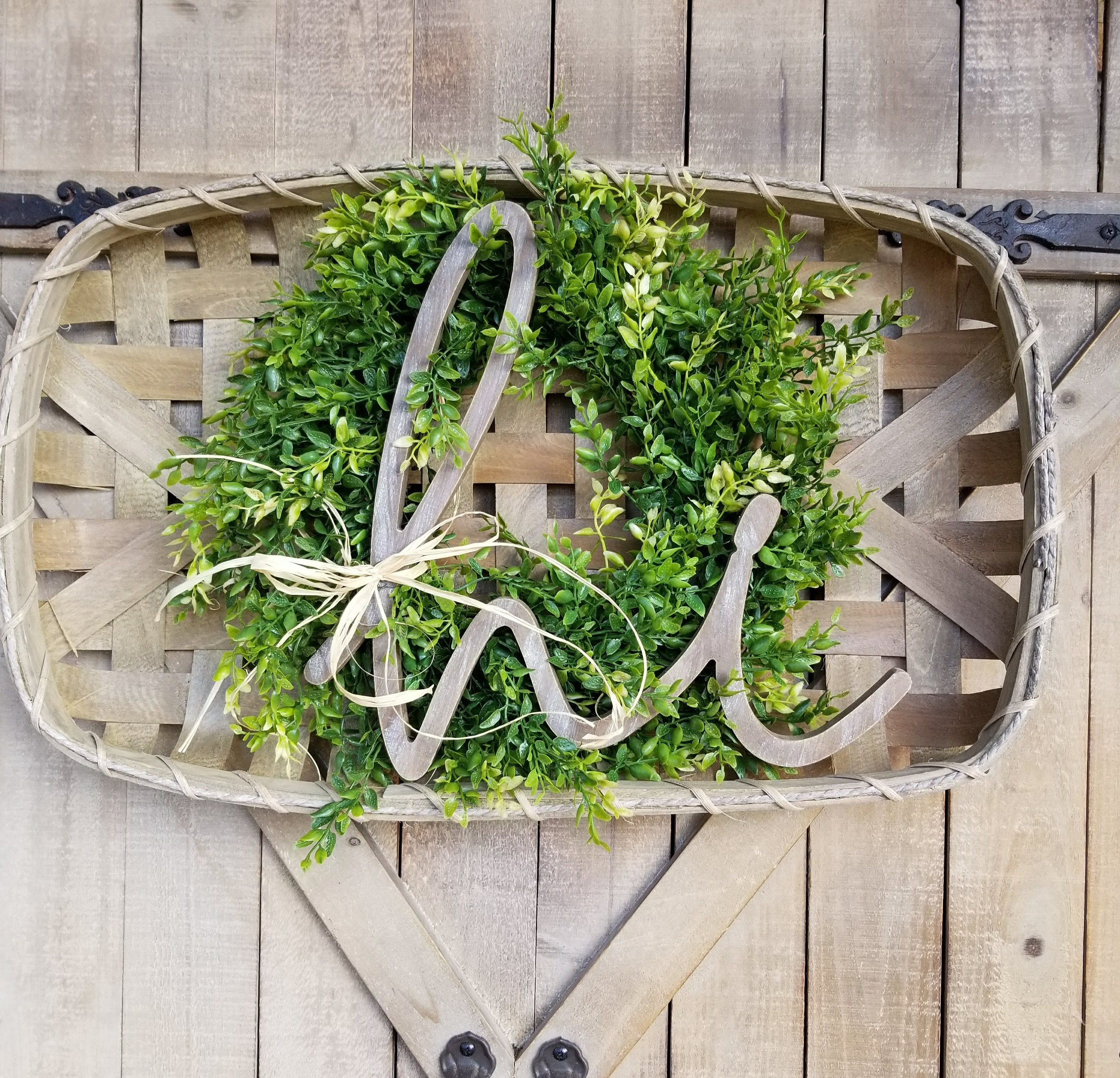 Front Door Baskets: Front Door Wreath Tobacco Basket Door Hanger Hi