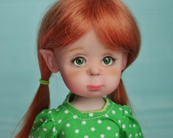 Red head bjd doll Mirosha the elf, fulset